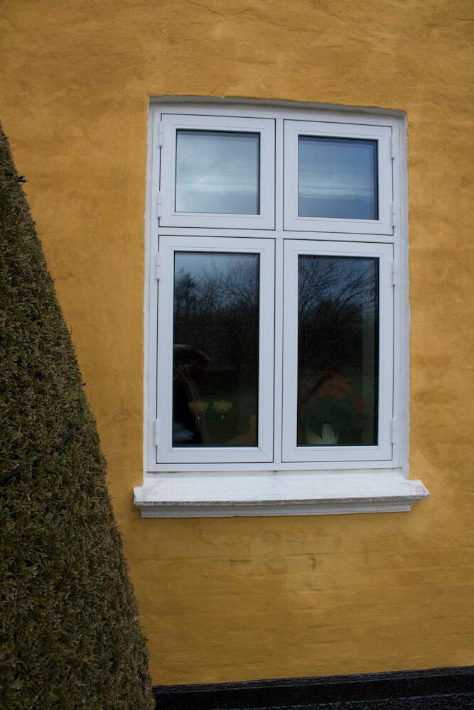 Træ/alu-vindue i stuehus